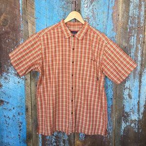 Patagonia Orange Short Sleeve Button Down Shirt